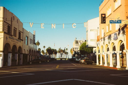 Venice sign in the street