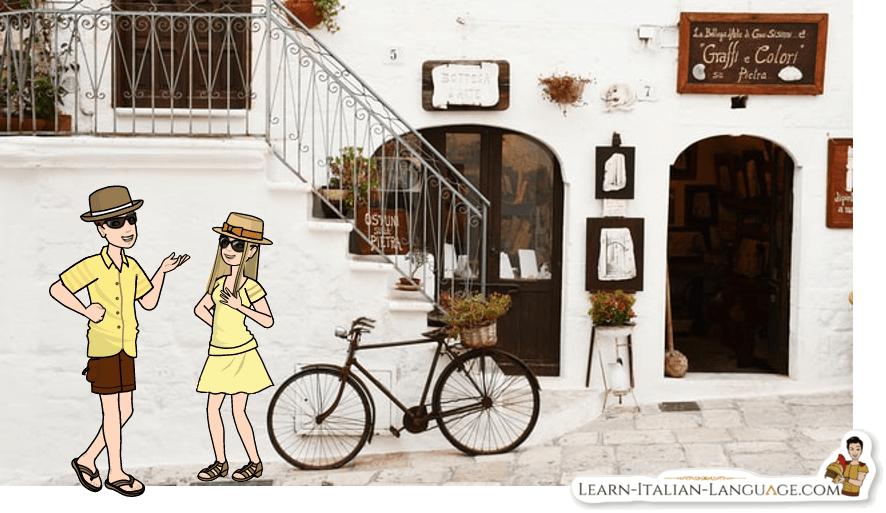 Tourists in Italy cartoon