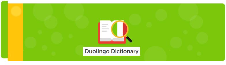 Duolingo Dictionary banner