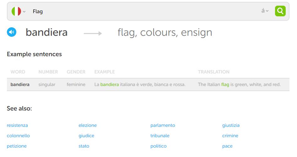 Duolingo Dictionary Flag