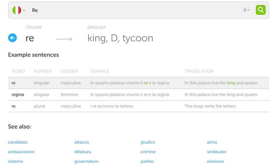 Duolingo Dictionary Re