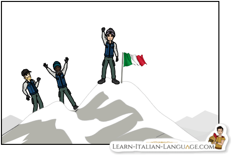 Climbers_at_the_top_with_Italian_flag