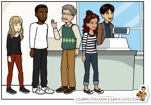 People_waiting_in_line_at_a_shop_cartoon
