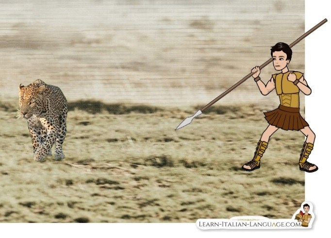 Roman_soldier_with_a_spear_against_a_leopard